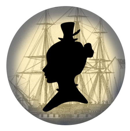 Silhouette clipper ship