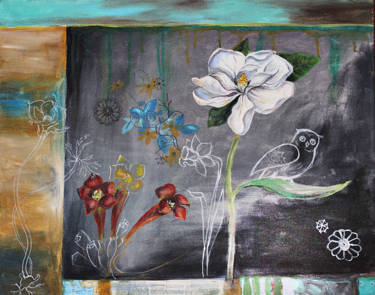 flower painting 2012 150