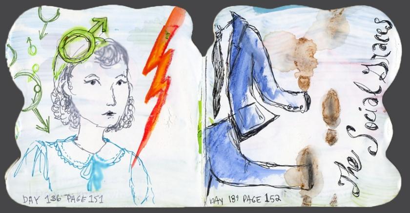 136-7 GreatExp sketches in boardbook