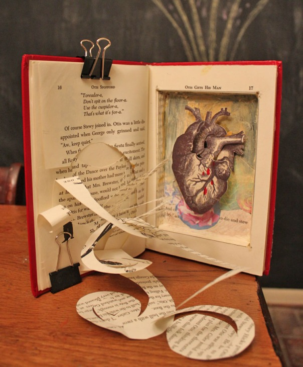 Heart Altered Book by Julie Flandorfer