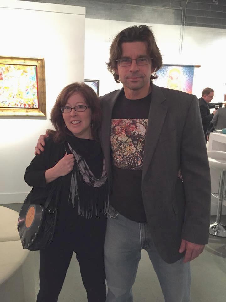 julie & Joe at exhibit