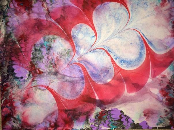 Marbled paper by Julie Flandorfer