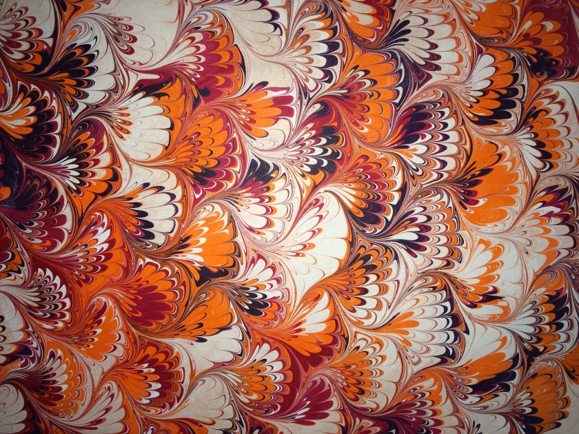 Marbled paper by Julie Flandorfer