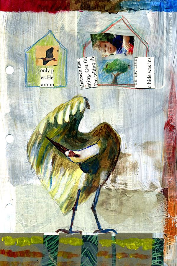 Junk mail art By Julie Flandorfer