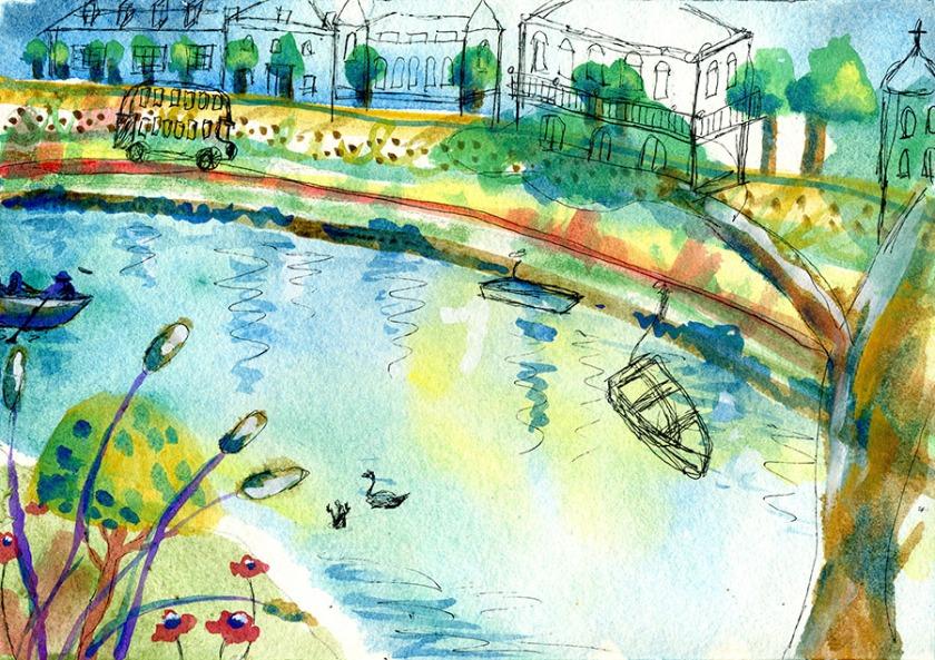 Great River Thames watercolor