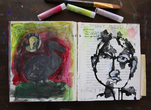 Art Journal Art Expectations by Julie Flandorfer
